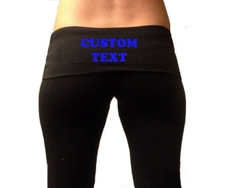 Custom yoga pants | Etsy
