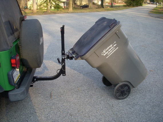 Home Made Steel Trash Can Hauler Attaches To Any Bike Rack