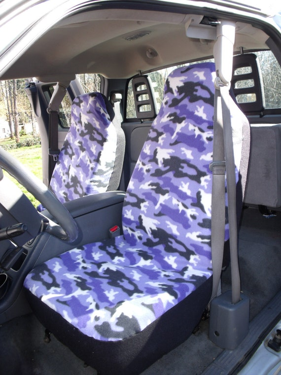 On Sale 1 Set Purple Camouflage Custom Made Cae Seat Covers