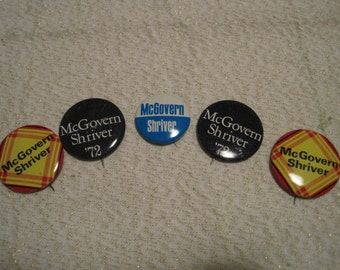 McGovern Shriver election pins 5 in all