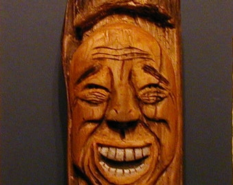 Driftwood Carving Wood Spirit  Sculpture, That's Hilarious