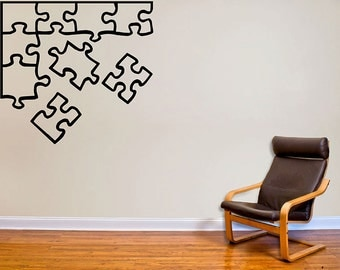 Puzzle Pieces Outlne Wall Decal
