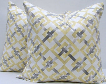 Waverly Pillow Cover, Yellow/grey/white Pillow Cover,  Pillow Cover, Throw pillow