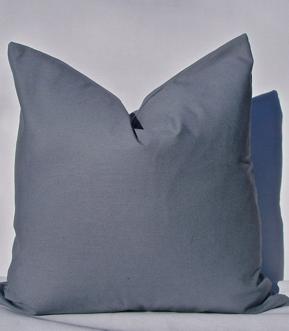Solid Grey Pillow Cover. Steel Grey Pillow Cover. Solid Linen