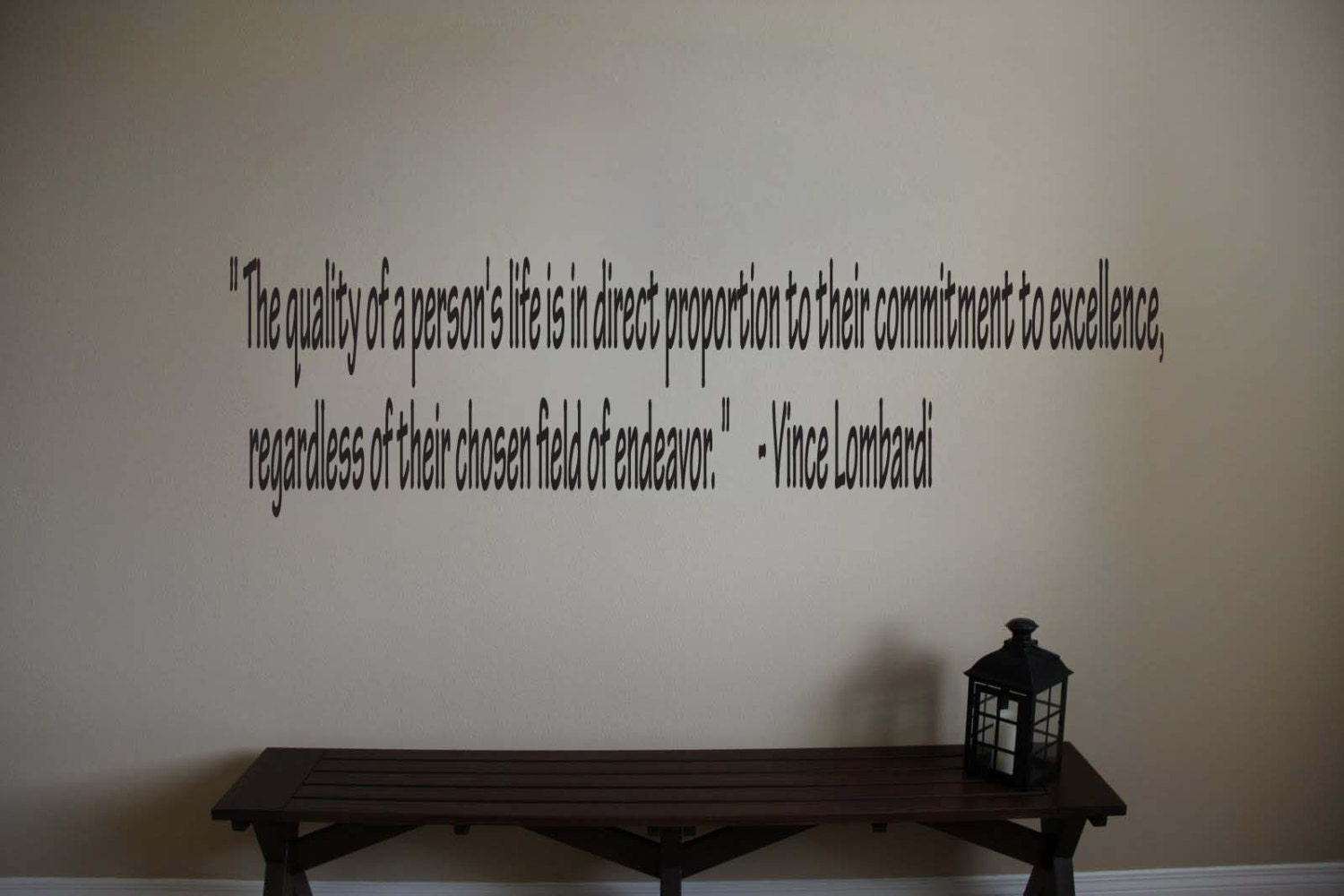 vince lombardi inspirational football sports quote vinyl wall