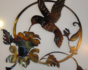 Hummingbird Metal Art