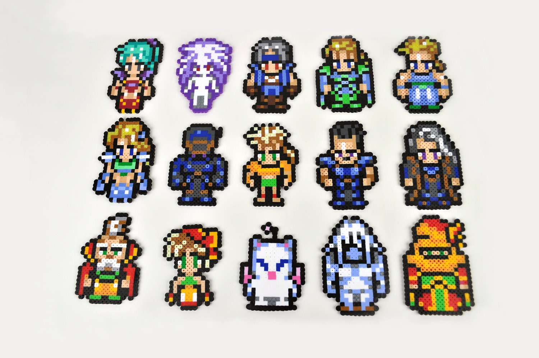 Final Fantasy VI Complete Character Perler Bead Magnet Set