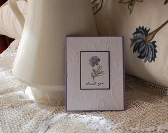 Handmade Greeting Card,  Thank You Card