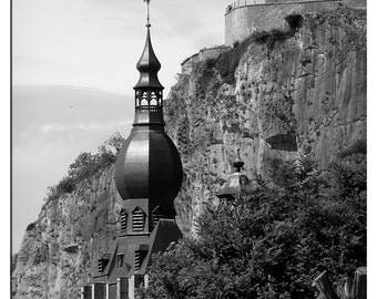 8x10 DINANT, BELGIUM black and white photography.