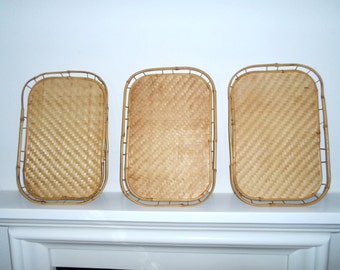 Bamboo Trays 6 in Set