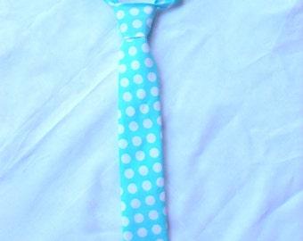 Little Boy Tie Boy tie adjustable tie toddler tie baby tie michael miller ocean ta dot fabric spring tie easter tie