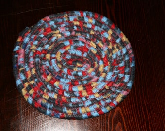 TRV002 - Fabric Coiled Trivet - Hot Pad - Kitchen Table Rug -