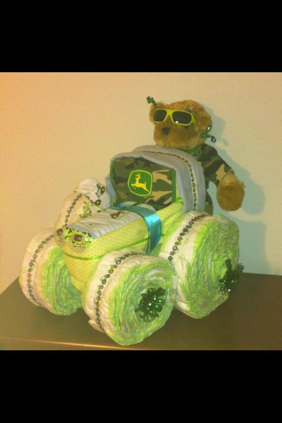 John Deere Diaper Tractor : John deere tractor diaper cake