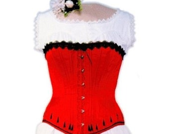 LMBJ01 - 1837 to 1899 Ladies Victorian Steampunk Corset Sewing Pattern by Laughing Moon