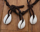 Cowrie Shell and Leather Necklace