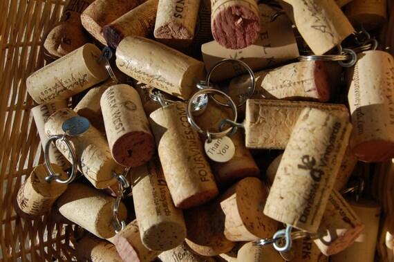 50 Wine Cork 'Thank You' Key Chains