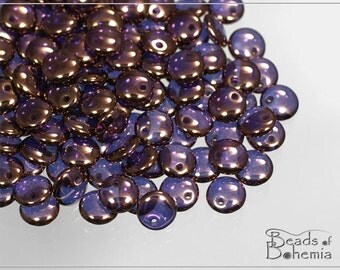 Crystal Vega Czech Lentil Beads 6 mm, 50 pcs (7469)