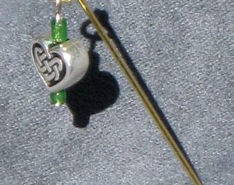 Hijab pin - nonfigurative. Made in Oregon.
