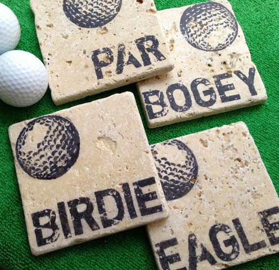 Golf Stone Coaster Set