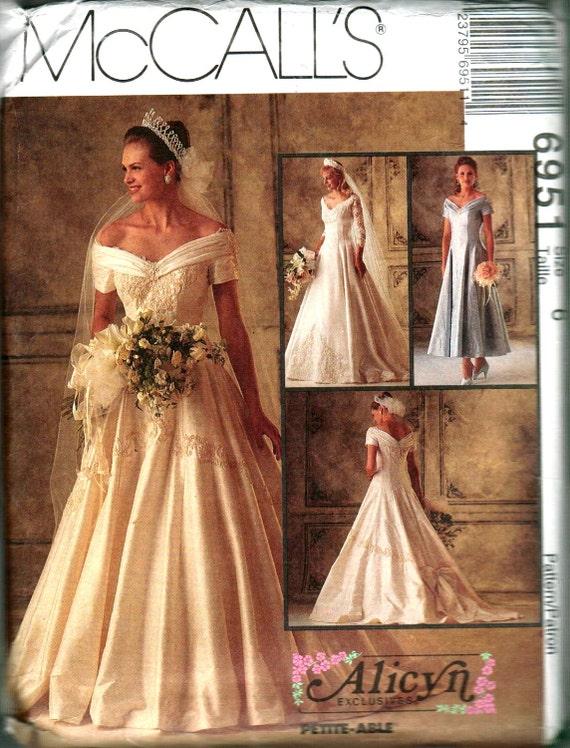 McCalls No 6951 Sewing Pattern Wedding Dress By Knittingknitch