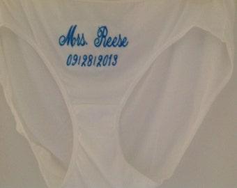 Wedding underwear,  bridal panties