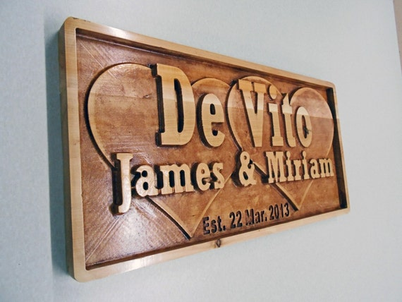 Personalized Custom Name Plaque,Sign Carved 3D Rustic Wedding Gift Man Cave Cabin Motorhome Plaque RV Name Plaque Anniversary Custom Design