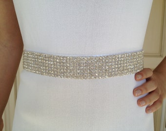 "24"" Best Seller,Bridal Sash,Rhinestone Bridal Sash,Wedding Belt Sash,Wedding Sash"