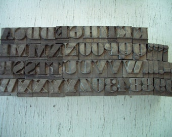 RC3 -  AWESOME Chunky LETTERPRESS Lot - Almost all Inclusive