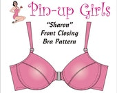 The SHARON front closing, underwired bra PATTERN by Pin Up Girls