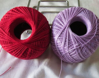 Red and Purple Thread