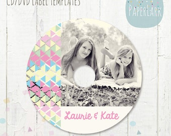 CD/dvd label photoshop template -ES004 - INSTANT Download