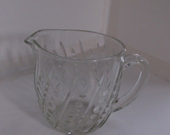 Clear One Pint Milk Pitcher