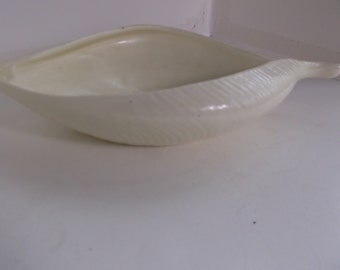 Vintage Yellow Red Wing Leaf Shaped Planter or Bowl