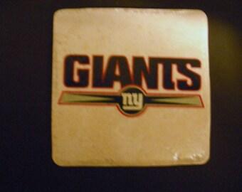 New York Sports Fans Giants  Football team   Ceramic Tile Coasters