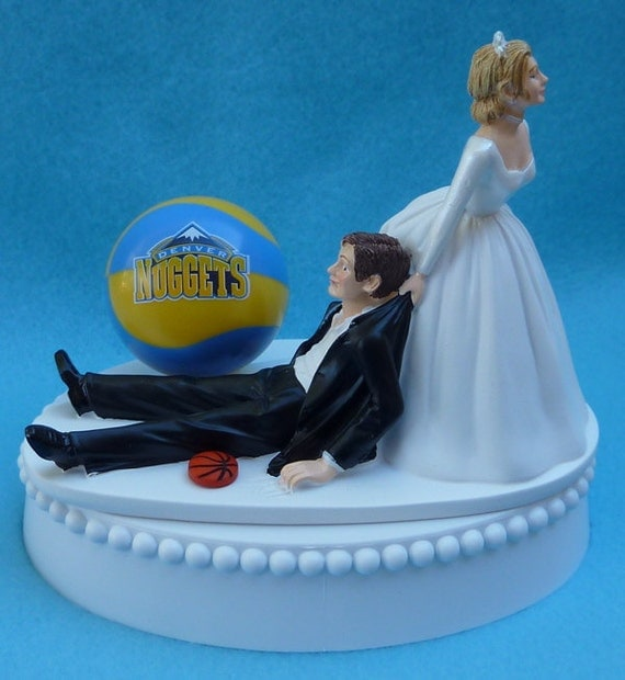 wedding cake toppers denver co wedding cake topper denver nuggets basketball themed w bridal 26450