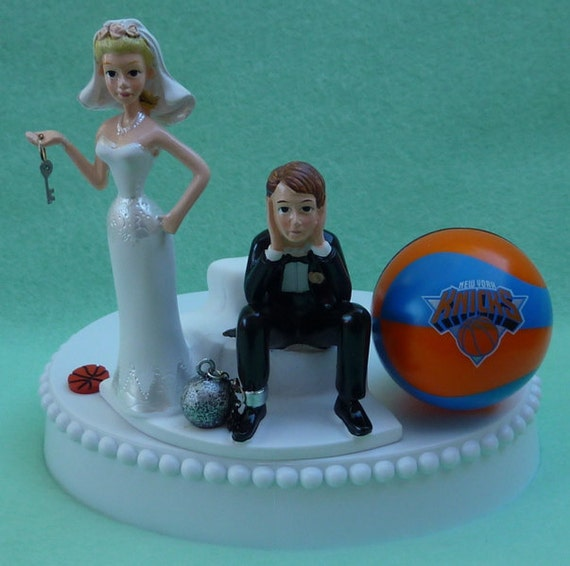 new york themed wedding cake toppers wedding cake topper new york knicks ny basketball themed 17834
