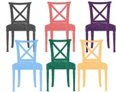 6 Digital Chairs // Antiques // Distorted Chairs Clipart // Clipart Chairs // Furniture Clipart // 300DPI // png files // INSTANT DOWNLOADS