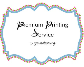100 x 2 sizes Wedding Combo Premium Printing Services by AJA Stationery