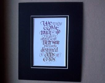 James Joyce Calligraphy Print