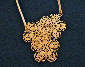 Gold Italian Filagree necklace