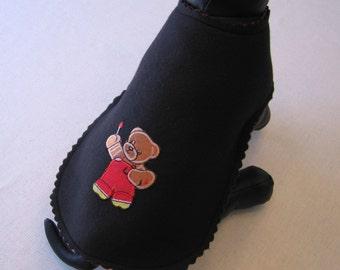 ON SALE - Medium - Reversible Dog Coat by Paw Lane, Black Little Dog Coat, Puppy Coat, Fleece Small Dog Coat