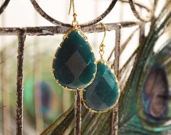 Luxe Jewel Drops in Teal from - Peacock Collection