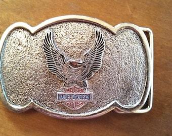 Vintage Harley Davidson belt buckle....emblem with eagle