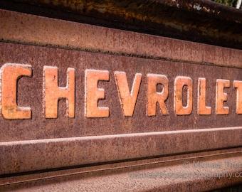 Chevy Chevrolet automobile pickup truck retro vintage 1950s man cave garage fine art photography