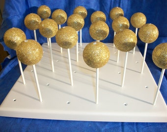 Handcrafted 36 Hole Cake Pop Stand Holder Pops
