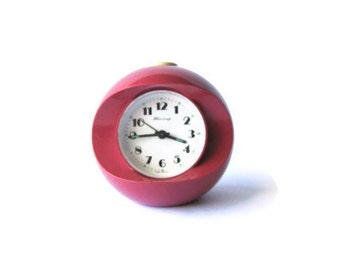 Vintage Blessing alarm clock from West Germany in a pink ball shape