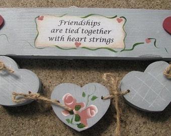 9129B - Friendship heart strings Blue