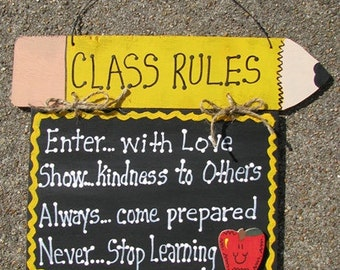 Teacher Gifts CT45 Hanging Class Rules
