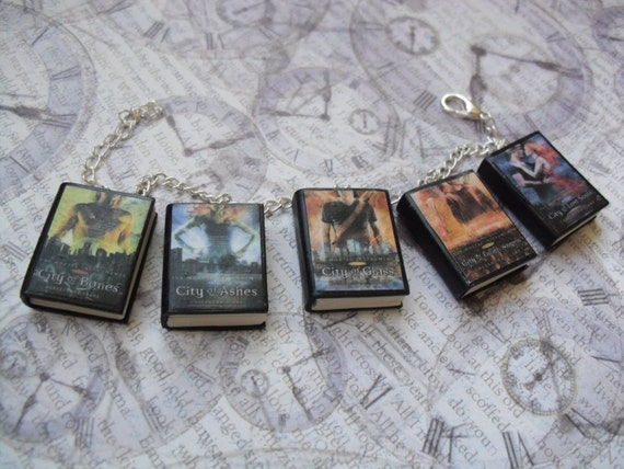 The Mortal Instruments book charm bracelet/keychain