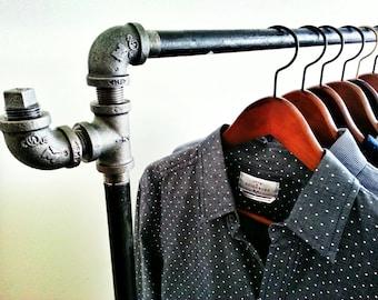 Industrial Pipe Clothing Rack